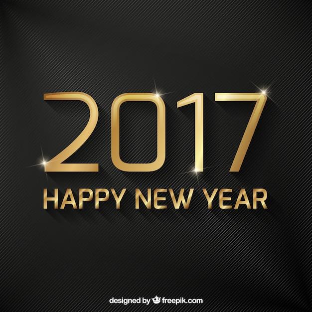 Elegant dark background with golden happy new\ year