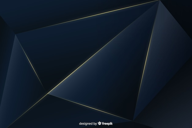 Elegant dark background with polygonal shapes Free Vector