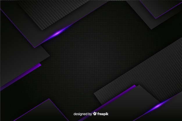 Elegant dark background with polygonal shapes Free Vector