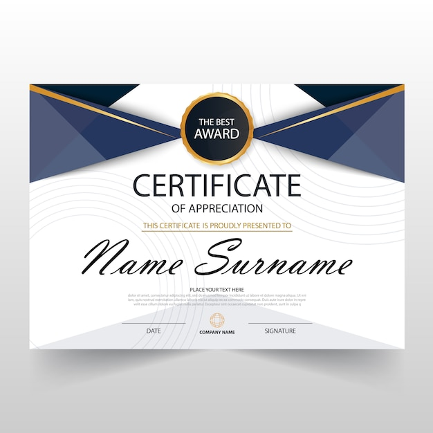 Elegant dark blue horizontal certificate template vector free download elegant dark blue horizontal certificate template free vector yadclub Gallery