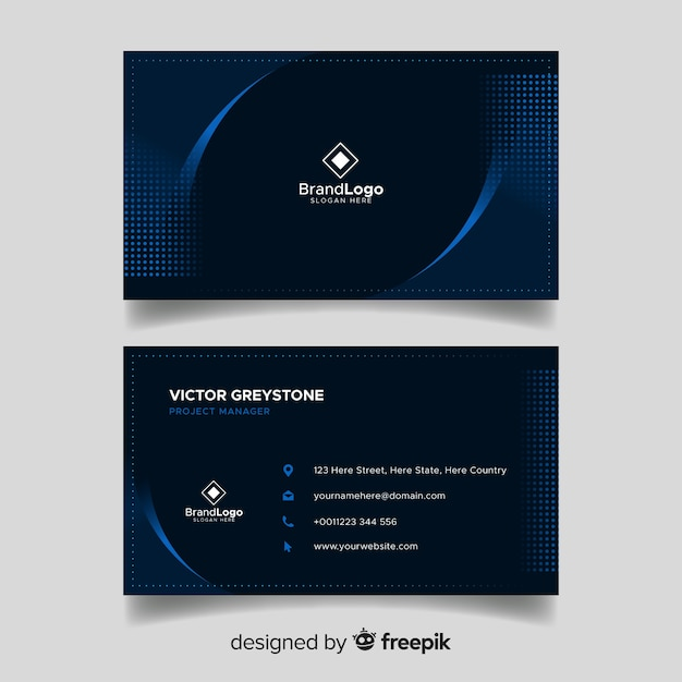 Elegant dark business card template design vector free download elegant dark business card template design free vector accmission Image collections