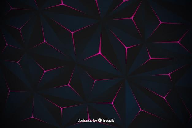 Элегантный темный дизайн многоугольной фон Бесплатные векторы
