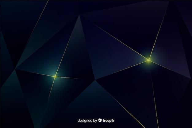 Elegant dark polygonal background Free Vector