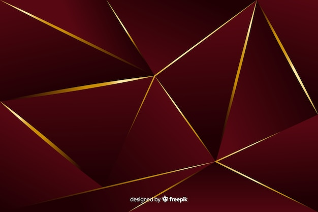 Elegant dark polygonal decorative background Free Vector