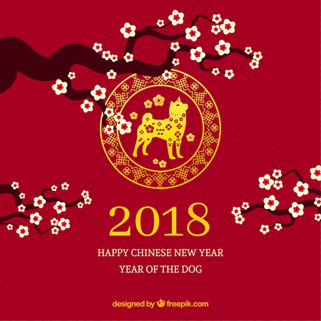 elegant dark red chinese new year background free vector