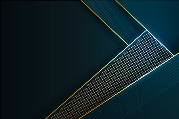 Elegant dark wallpaper with golden details concept Free Vector