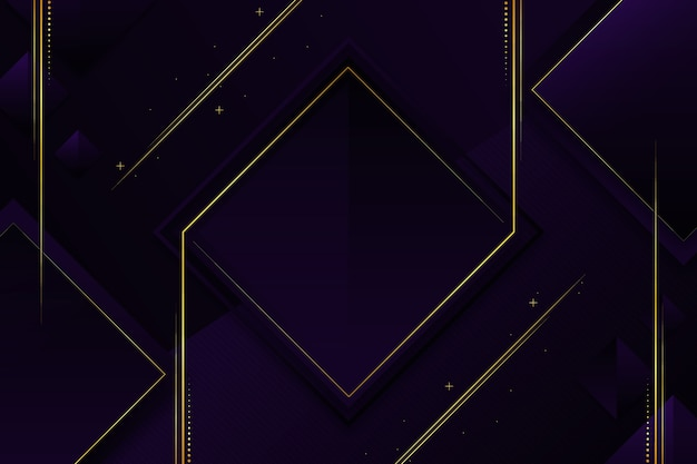 elegant dark wallpaper with golden details 23 2148423544