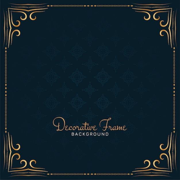 Elegant decorative frame design background Free Vector
