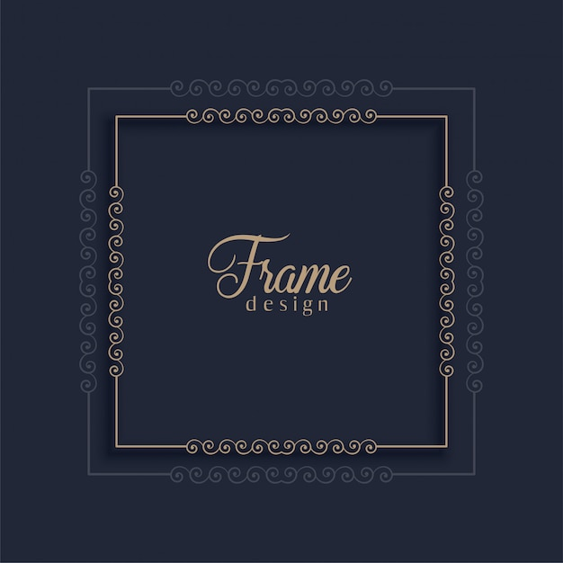 Elegant decorative frame Free Vector