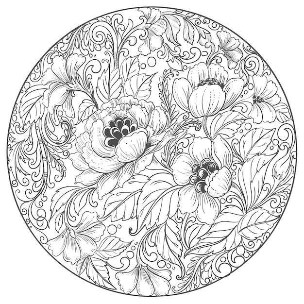 Elegante sfondo floreale mandala decorativo Vettore gratuito