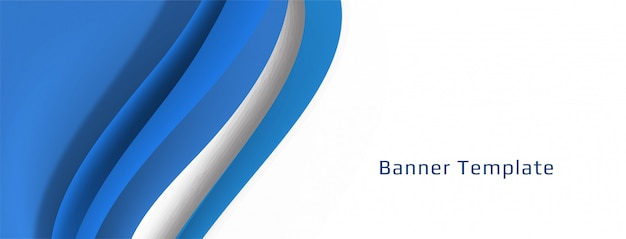 Elegant decorative wave banner design Free Vector