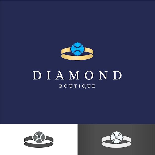 Элегантный логотип с бриллиантами для компании Бесплатные векторы