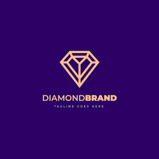 Elegante logo con diamanti Vettore gratuito