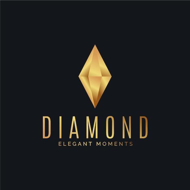 Элегантный бриллиантовый логотип Бесплатные векторы