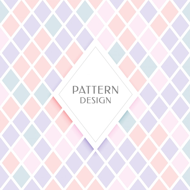 Elegant diamond shape pattern in pastel colors Free Vector