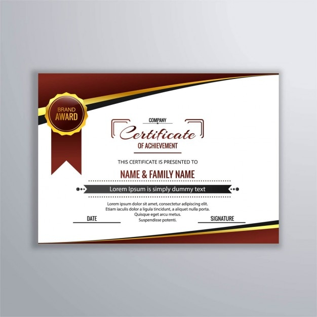elegant diploma of recognition vector  elegant diploma of recognition vector