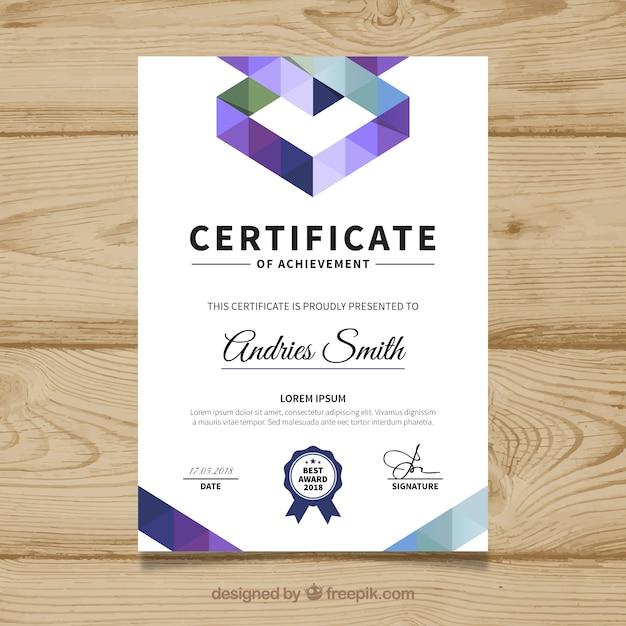 Elegant diploma template Free Vector