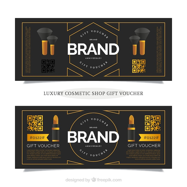 Discount coupons on beauty products vector free