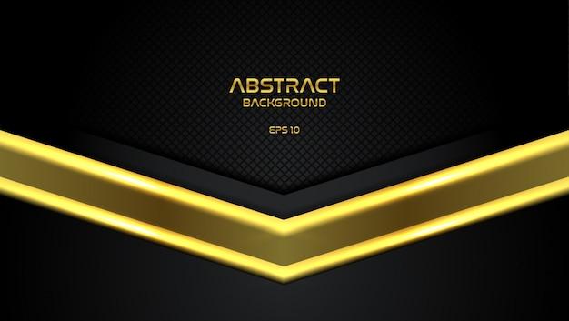 黄金の矢印の組み合わせでエレガントな黒の背景 Premiumベクター