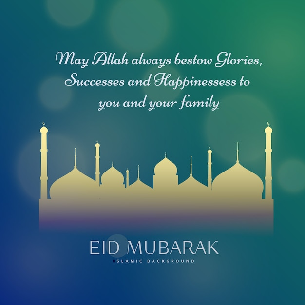 Download vector elegant eid mubarak greeting design with text elegant eid mubarak greeting design with text m4hsunfo