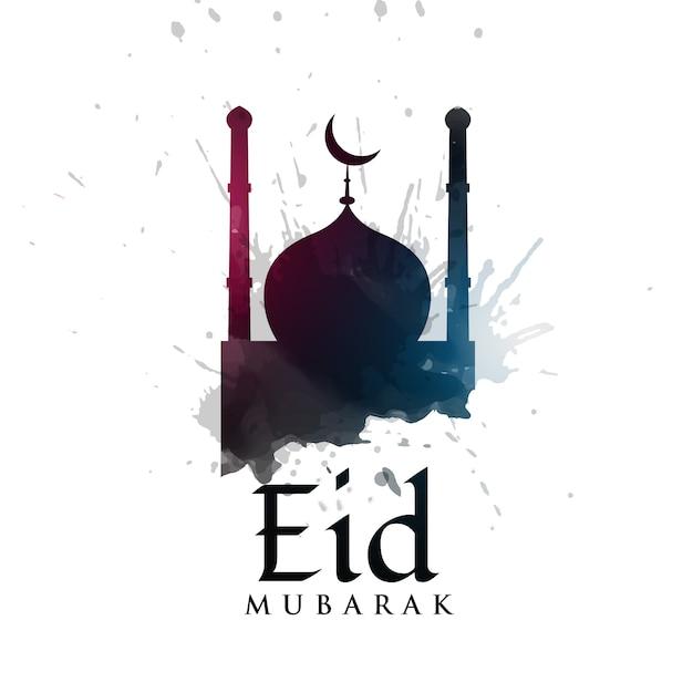 Free Vector | Elegant eid mubarak vector design