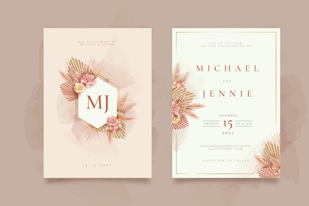 Engagement Invitation Card Template from image.freepik.com