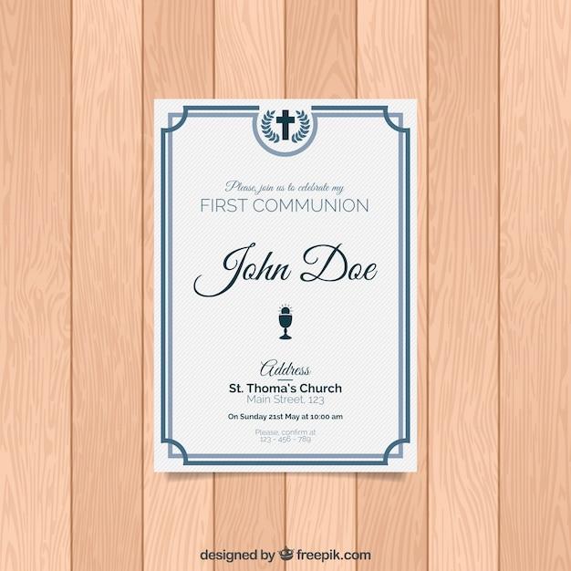 Elegant first communion invitation vector free download elegant first communion invitation free vector stopboris Choice Image