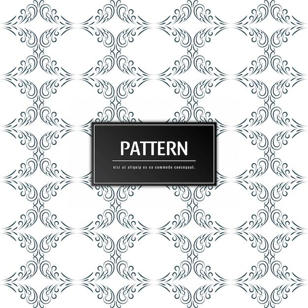 Elegant floral pattern decorative Free Vector