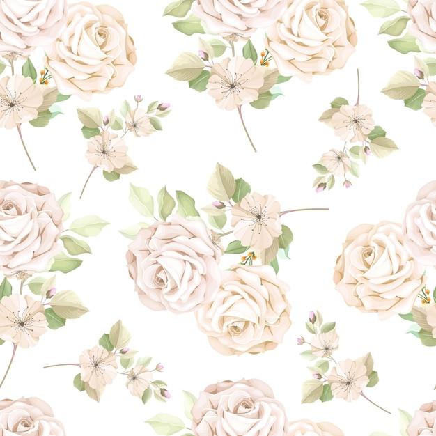 Elegante motivo floreale senza soluzione di continuità Vettore gratuito