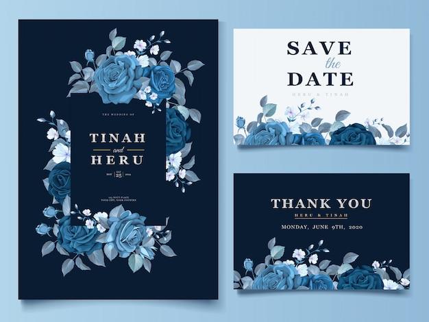 Elegant floral wreath wedding card Free Vector