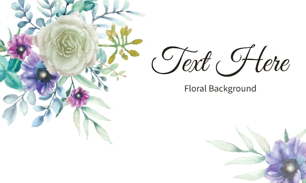 Elegant flower background with watercolor floral Premium Vector