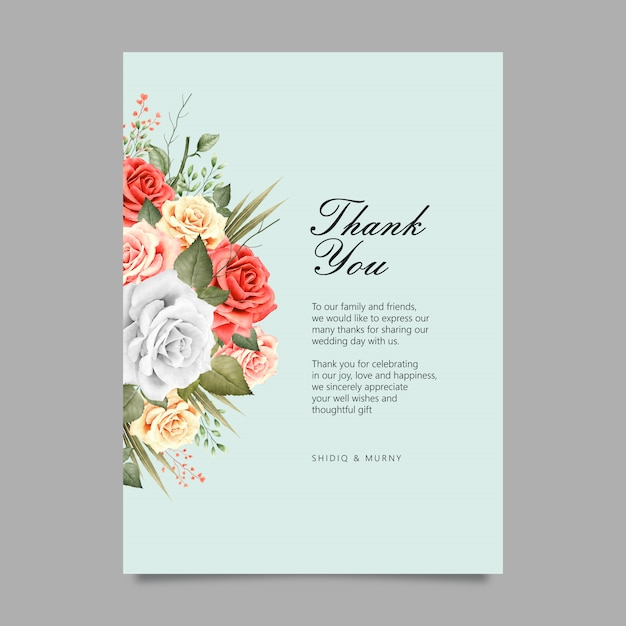 Elegant flowers bouquet watercolor Premium Vector