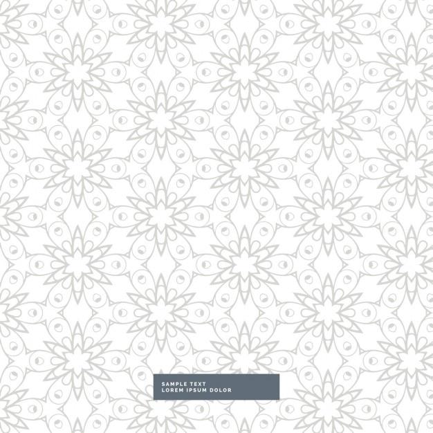 Elegant flowers white pattern
