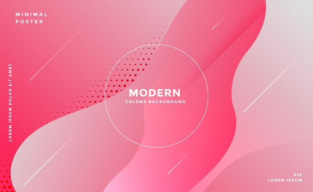 Elegant fluid style abstract pink background Free Vector