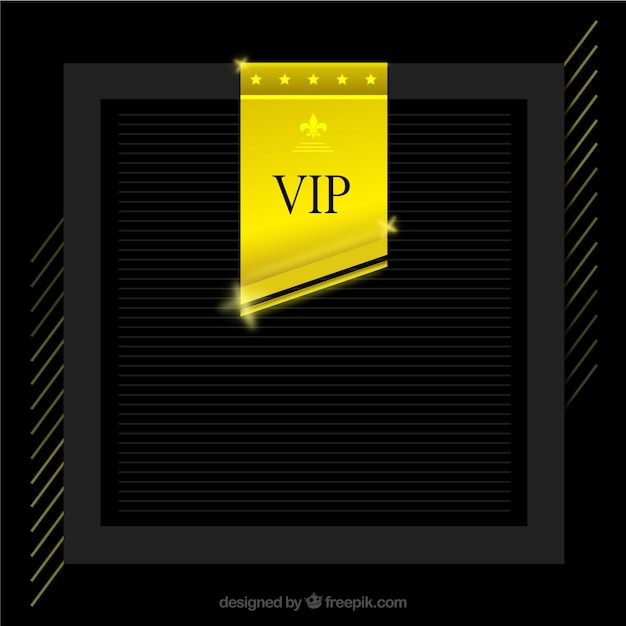Elegant frame background with golden vip label