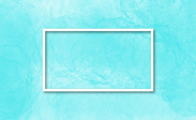 Elegant frame in a light blue watercolor background Free Vector