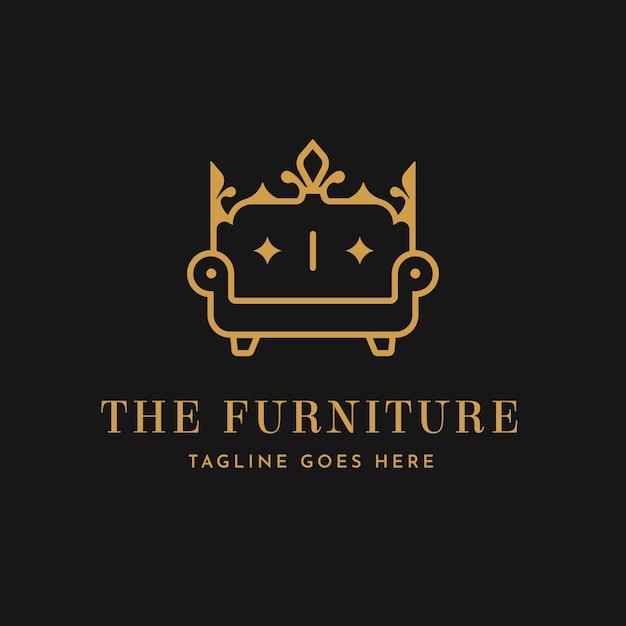 Elegant furniture logo template | Free Vector