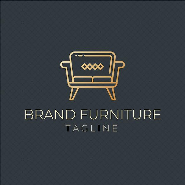 Шаблон логотипа элегантная мебель Бесплатные векторы