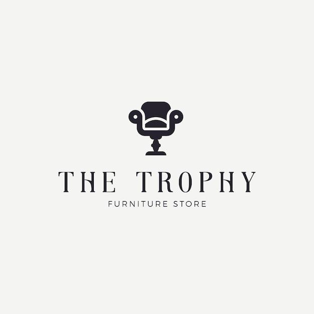 Элегантная мебель логотип Premium векторы