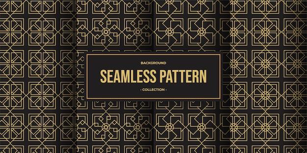 Элегантная геометрическая линия бесшовный фон фон коллекции Premium векторы