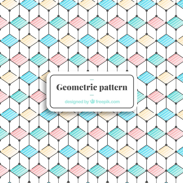 Elegant geometric pattern with minimalist style Free Vector