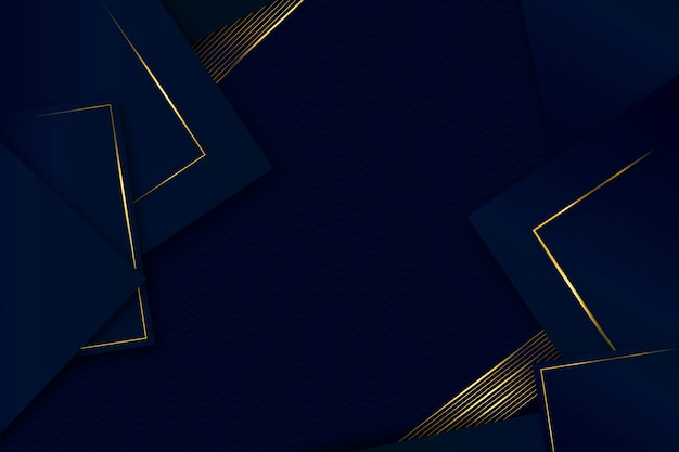 Elegant geometric shapes background realistic design Free Vector