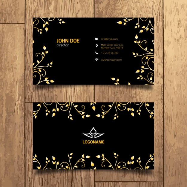 Elegant gold business card vector free download elegant gold business card free vector reheart Choice Image