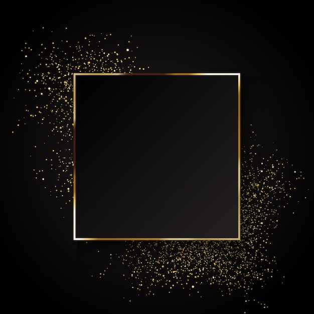 Elegant gold glitter background Free Vector
