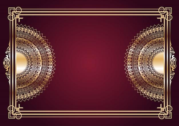 Elegant gold mandala design background Free Vector