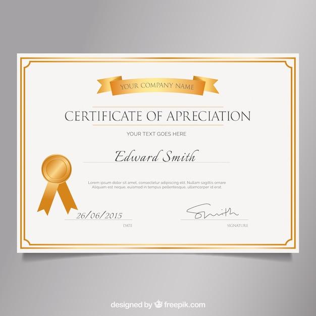 Elegant Marriage Certificate Template Golden Edition: Elegant Golden Certificate Vector
