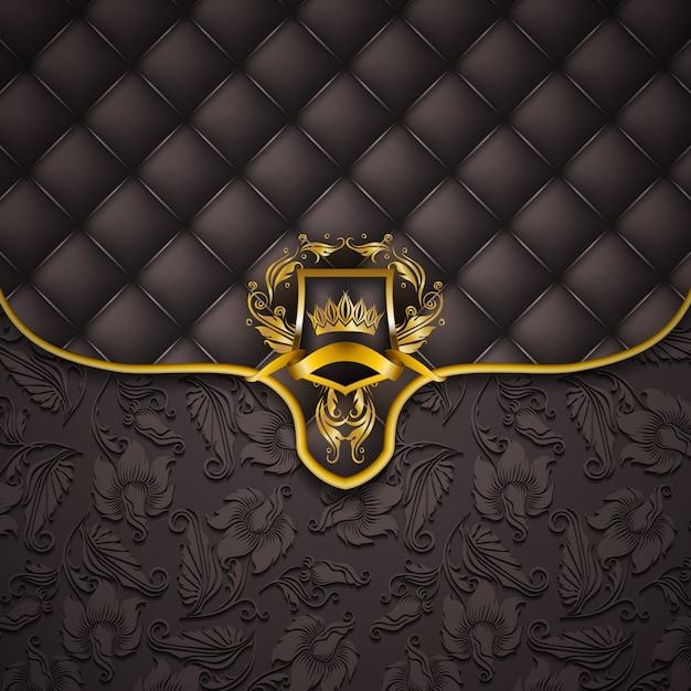 Elegant golden frame banner Premium Vector