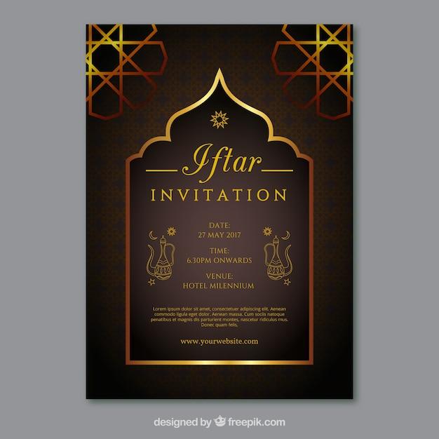 Elegant golden iftar invitation vector free download elegant golden iftar invitation free vector stopboris Image collections