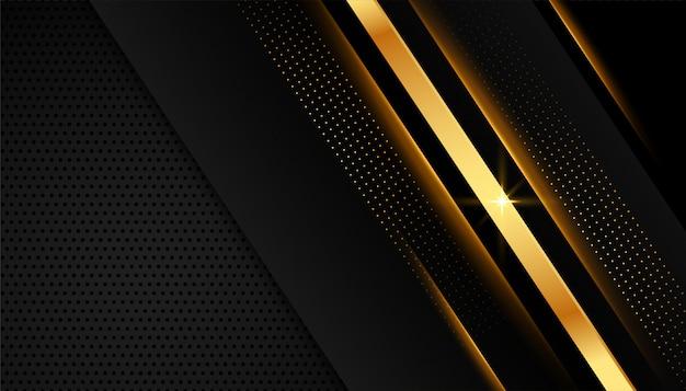 Elegant golden lines on dark black background Free Vector