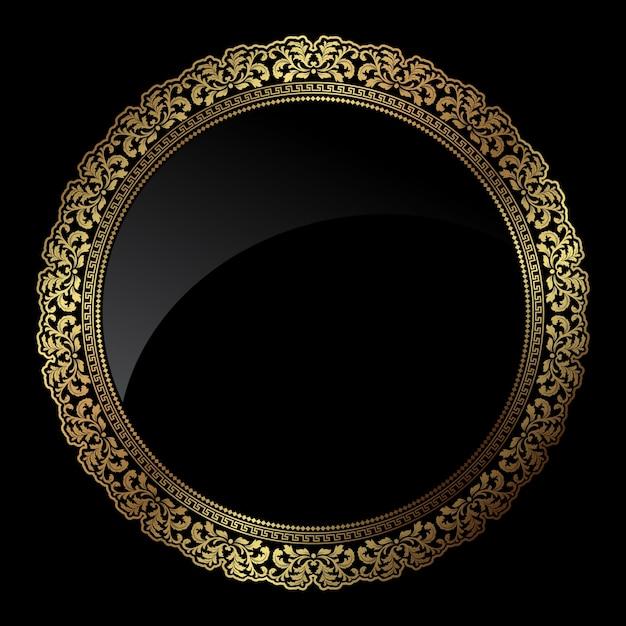 072e7bf7ed8 Elegant golden ornamental frame Free Vector